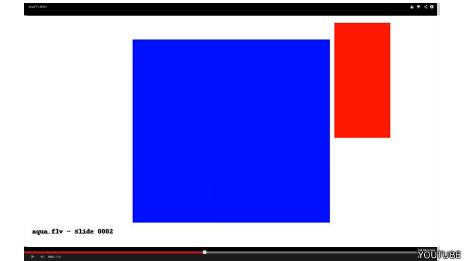 Los videos muestran rectángulos acompañados de un sonido bastante ensordecedor.