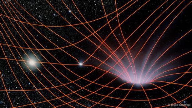 Una estrella que se quedó sin combustible puede producir la densidad necesaria para crear una curvatura del tiempo y el espacio.