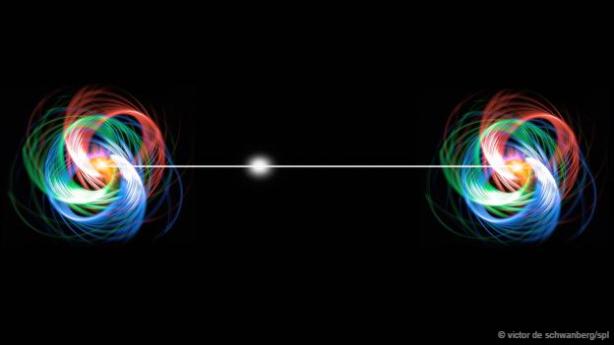 """Partículas que se encuentren a gran distancia pueden resultar """"mezcladas"""" misteriosamente."""