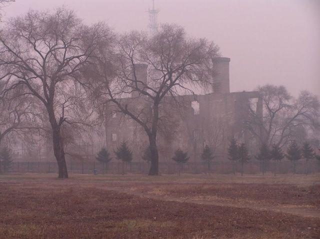 Foto: Ruinas de uno de los edificios empleados. Wikimedia Commons