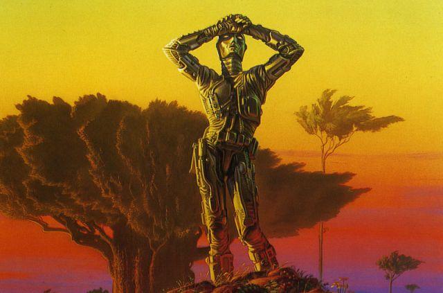Las tres leyes de la robótica de Isaac Asimov no van a ser suficientes para controlar la IA. Los robots del amanecer / Michael Whalen