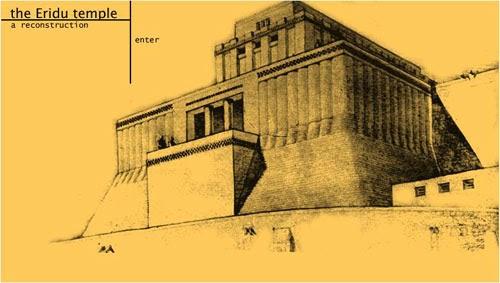 Reconstrucción del templo de Eridu