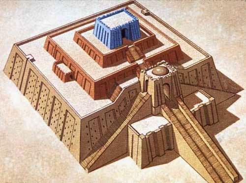 Reconstrucción del zigurat de Ur