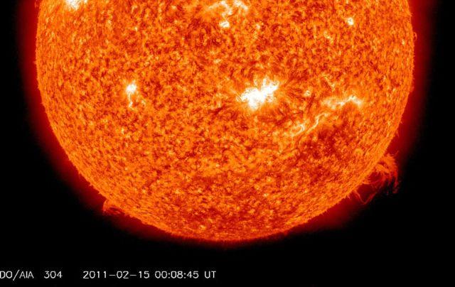 Emisión de una llamarada del Sol de Clase X (NASA). Getty