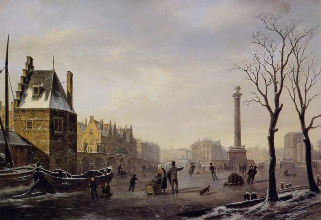 Pequeña Edad de Hielo en Rotterdam. Wikimedia Commons