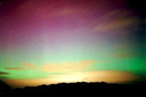 Aurora austral en Nueva Zelanda. Wikimedia Commons