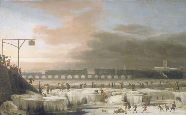 El Támesis helado. Wikimedia Commons