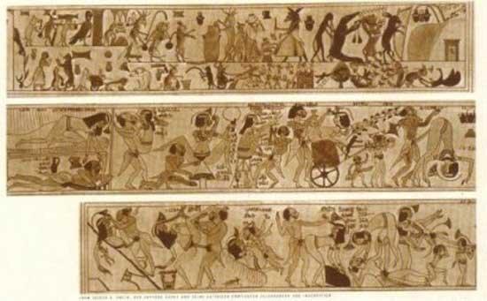 Fragmento del papiro erótico de Turín